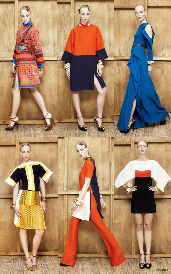 vionnet resort 2012 collection - the color blocking trend continues
